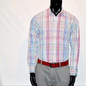 Button Up Muti color Dress Shirt Tallia M 15.5